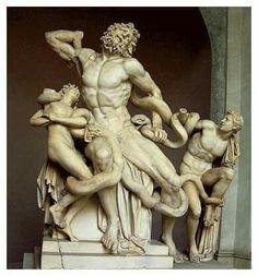 Laocoonte copia, ingresso Pinaxoteca Ambrosiana