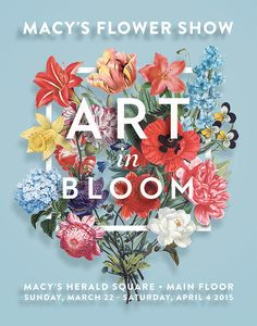 40 Floral Typography Designs that Combine Flowers & Text Flower Text, Flower Show, Graphic Design Posters, Graphic Design Inspiration, Floral Posters, Graphic Art, Flower Typography, Typography Poster, Web Design