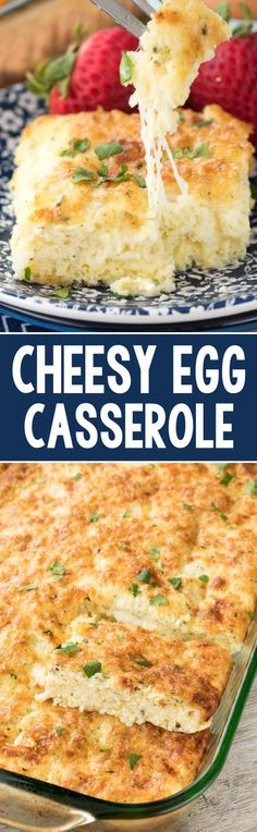 Buttery Cheesy Egg Casserole - this recipe is the perfect baked egg recipe for brunch! It's full of cheese and spices and everyone loves it. (Gluten Free Recipes For Breakfast) Breakfast Dishes, Breakfast Time, Breakfast Recipes, Egg Dishes For Brunch, Mexican Breakfast, Breakfast Sandwiches, Breakfast Pizza, Breakfast Ideas, Brunch Egg Casserole