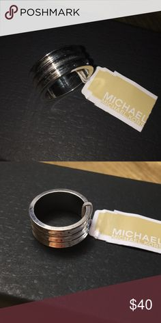 New!! Michael Kors Silver Ring Brand new silver tone ring. Never worn. Michael Kors Jewelry Rings
