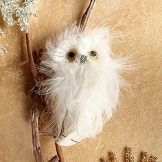 I don't think I can resist adding this little guy to our tree. Owl Ornament - White #WestElm