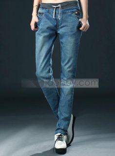 Celebrity Korean Style Loose Empire Waist Plus Size Jean : Tidebuy.com