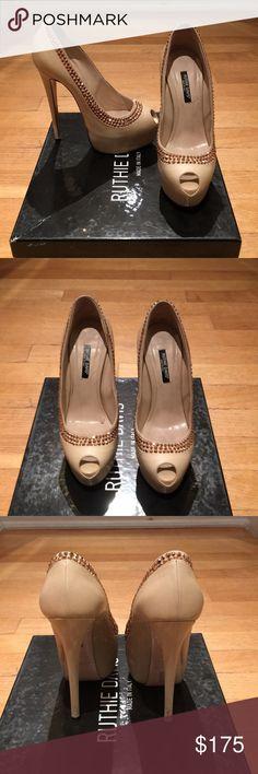 Ruthie Davis Pumps Rhinestone blush/nude Ruthie Davis heels Ruthie Davis Shoes Heels