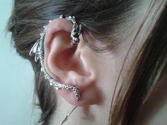 Steampunk Silver dragon ear cuff by StylesBiju on Etsy