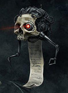 Risultati immagini per servo skull 40k
