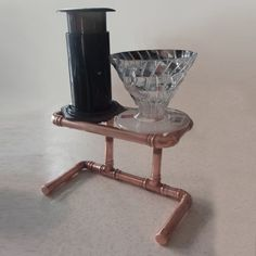 Two-cup Coffee Pour-Over Stand https://www.etsy.com/uk/shop/Dwindl #coffee #coffeelovers #craft #copper #industrial #aeropress #pourover #pourovercoffee #thirdwavecoffee #dripstation