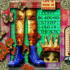 Step out... go on!! / Collage by angellea (glitterbug)
