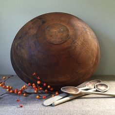 My Vesties Christmas Wish List - huge antique dough bowl rare at 18 around by sophisticatedflorida
