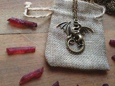 Dragon Pendant Necklace Dragon Necklace Fantasy by TrollsMarket Dragon Necklace, Bronze, Dragon Pendant, Fantasy, Wire Jewelry, Pendant Necklace, Patterns, Bags, Etsy