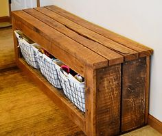 20 interesting DIY benches ideas that will not only look wonderful in your mudroom but also increase storage capacity.
