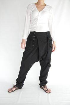 Harem Pants unique design ,Cotton Jersey Pants SP05-BL