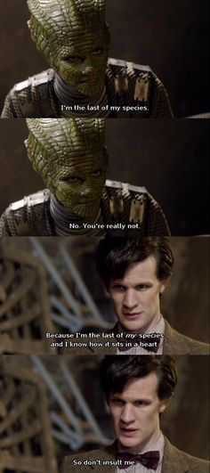 Matt Smith is so frequently a total goof. But then there are these heavy moments. And they are brilliant.