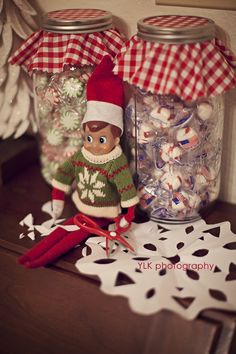 Elf on the Shelf: Snowflake crafting! Let's just hope he sets a good example and picks up after himself.