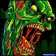 Zombie Cartoon Drawings | how to draw a zombie tattoo, zombie tattoo