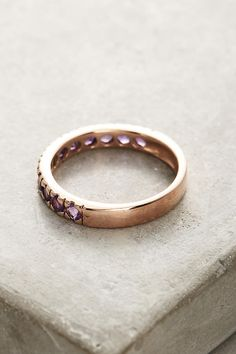 Thin Amethyst Stacking Ring | Anthropologie