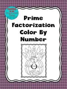 Thanksgiving Color by Number--Prime Factorization