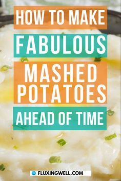 Make-Ahead Mashed Potatoes will simplify holiday meals. This easy make-ahead recipe literally changed my life. Free up oven space by using your crockpot for this recipe. Perfect for any pot lucks, holidays, and any other party or large gathering. Take the stress out of holiday meal preparation by making this amazingly easy, delicious dish. #easyrecipes #makeahead #mashedpotatoes #holidayrecipes #easymashedpotatoes #crockpotmashedpotatoes #mashedpotatoesrecipe #homemademashedpotatoes… Easy Salad Recipes, Easy Salads, Easy Healthy Recipes, Easy Dinner Recipes, Easy Meals, Make Ahead Mashed Potatoes, Crockpot Mashed Potatoes, Homemade Mashed Potatoes, Side Dishes Easy