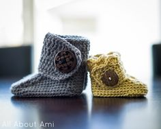 All About Ami - Crochet Baby Button Boots