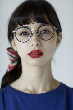 Ayami Nakajo×Blue #中条あやみ    I want those glasses!