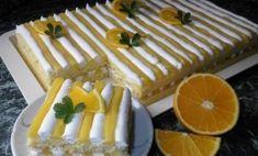 Úžasný citrusový dezert s krémovou plnkou z pudingu | Báječné recepty Czech Recipes, Healthy Deserts, Nom Nom, Bakery, Dessert Recipes, Lemon, Sweets, Cheese, Chocolate