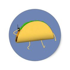 Walkie-Taco - stickers - personalize gift idea diy or cyo