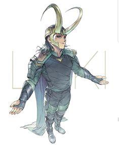 ArtStation – Loki, Devon Pan - Marvel Fan Arts and Memes Thor X Loki, Marvel Dc Comics, Marvel Avengers, Loki Fan Art, Loki Laufeyson, Hawkeye, Univers Marvel, Black Widow, Hulk