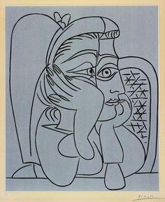 PABLO PICASSO PORTRAIT DE JACQUELINE ACCOUDÉE, 1959