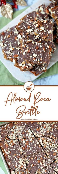This Almond Roca Brittle is the stuff your crispy, buttery, toffee dreams are made of! This is my most requested Christmas recipe EVER, and I made pounds and pounds of it every year!   #candy #Christmas #ChristmasCandy #CreistmasRecipe #recipe #recipeoftheday
