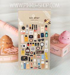 My Makeup stickers Makeup Stickers, Kawaii Stationery, Kawaii Stickers, Sticker Paper, Girly, Shop, Lady Like, Girly Girl, Store
