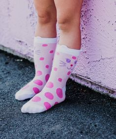 Buy Jefferies Socks Girls Kitty Cat Fashion Crew Socks 6 Pair and many other girls socks. Socks for everyone, we are your one stop sock shop. Purple Lilac, Pink White, Yellow, Sock Shop, Trendy Girl, Girls Socks, Fashion Socks, Cat Face, Crew Socks
