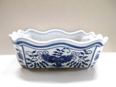 Chinoiserie Blue and White Planter