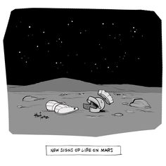 The Daily Cartoon shows new signs of life on Mars. Comics Toons, Signs Of Life, Marvin The Martian, New Yorker Cartoons, Life On Mars, Cartoon Shows, The New Yorker, New Sign, New Pictures