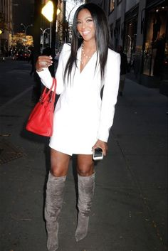 Kenya Moore in NYC