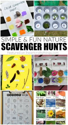 Spring Nature Scavenger Hunts for Kids! A great activity for summer camp for a camping unit during the school year!