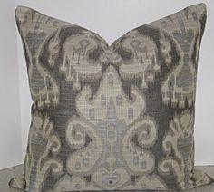 BOTH SIDES 20 x 20 Kravet Smart Fabric ikat fabric by playpurdys
