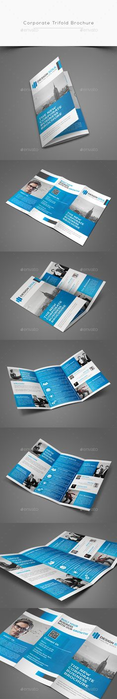 Corporate Trifold Brochure Template PSD #design Download: http://graphicriver.net/item/corporate-trifold-brochure/13389777?ref=ksioks