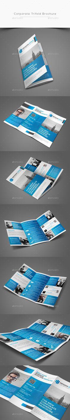 Corporate Trifold Brochure Template PSD #design Download: http://graphicriver.net/item/corporate-trifold-brochure/13389777?ref=ksioks