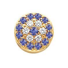 14K Gold Diamond and Tanzanite Victorian Bracelet Slide 80803
