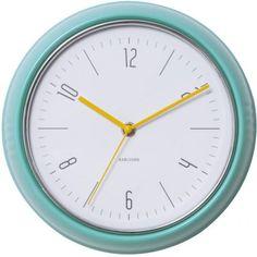 Wandklok Retro groen - Karlsson #clockwork #clock