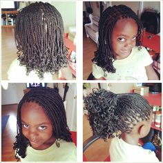 Small curly box braids. Natural Braided Hairstyles, Natural Hairstyles For Kids, Dreadlock Hairstyles, Natural Hair Styles, Baby Girl Hairstyles, Summer Hairstyles, Cute Hairstyles, Children Hairstyles, Ladies Hairstyles