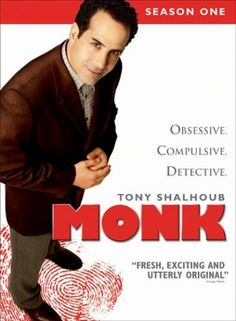 It's Monk night at our house!  We watch two episodes every Friday - guess you could call it our date night.  Do you love Adrian Monk as much as I do?  Know someone else who does?  A gift of the complete series of Monk on DVD would be, wow, an awesome gift for a Monk fan!