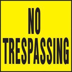 Hy-Ko No Trespassing Sign (Set of 20)