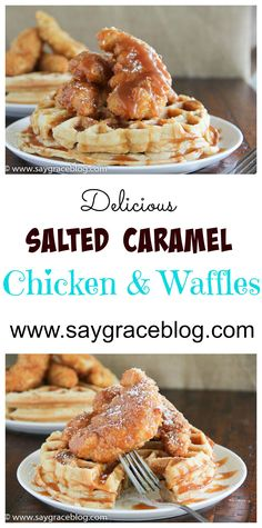 The trending salted caramel meets southern fried chicken along with the traditional breakfast waffle! Ummm boy!!!