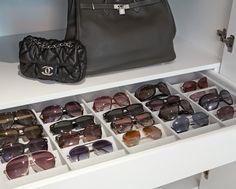 Organização de óculos