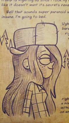 Dipper's illustration of Wendy in Journal 3