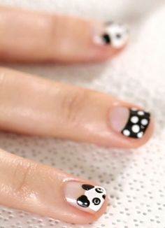 Find out to create fun panda nails!