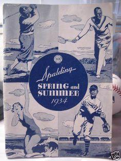 Spalding 1934 Spring and Summer. (Colección particular Pablo Gines)