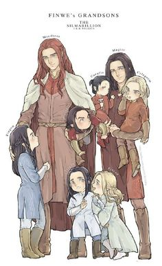 Sons of Fëanor--elf kids are too cute...and they are like really smart at one....and aren't bodily full grown till fifty. So adorable smart little elf kids don't grow up so fast.