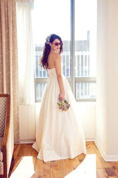 Gorgeous bride and gorgeous dress! Photo by Heidi S. #MinneapolisWeddingPhotographer #WeddingDress