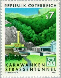 Entrance of the Karawanken road tunnel Harry Potter Poster, Rubber Raincoats, Civil Engineering, Travel Posters, Postage Stamps, Geography, Austria Travel, City Photo, Japan